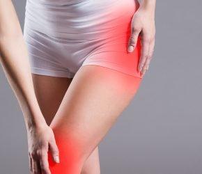 Abbildung zeigt einen typischen Hüft- und Knieschmerz