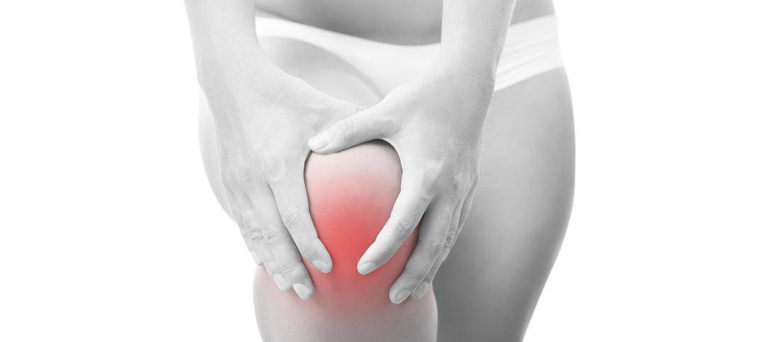 Abbildung zeigt einen Knieschmerz